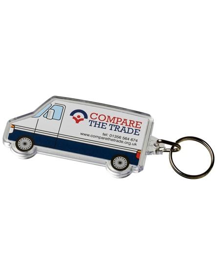 branded combo van-shaped keychain