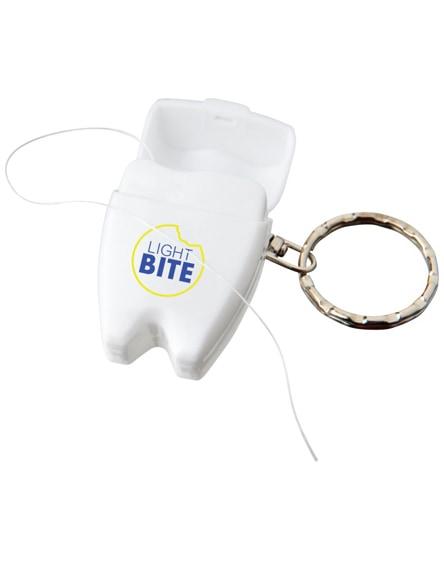 branded demi dental floss keychain