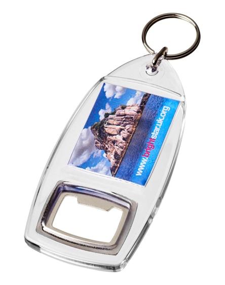 branded jibe r1 bottle opener keychain