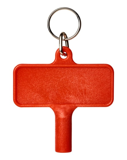 branded largo plastic radiator key with keychain