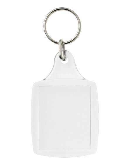 branded leor a4 keychain with metal clip