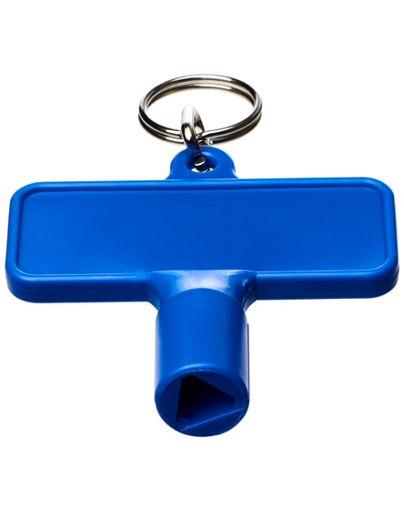 branded maximilian rectangular utility key keychain