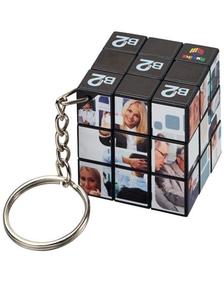 branded rubik's cube keychain