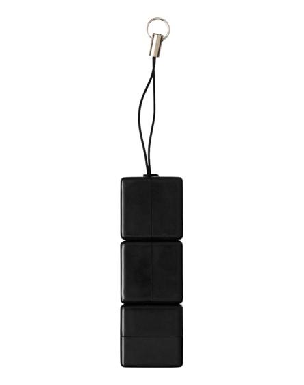 branded rubik's led flashlight with key loop