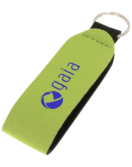 branded vacay key tag with split ring