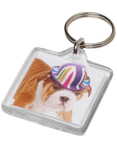 branded vial u1 square keychain