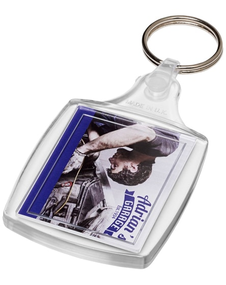 branded zia s6 classic keychain with plastic clip