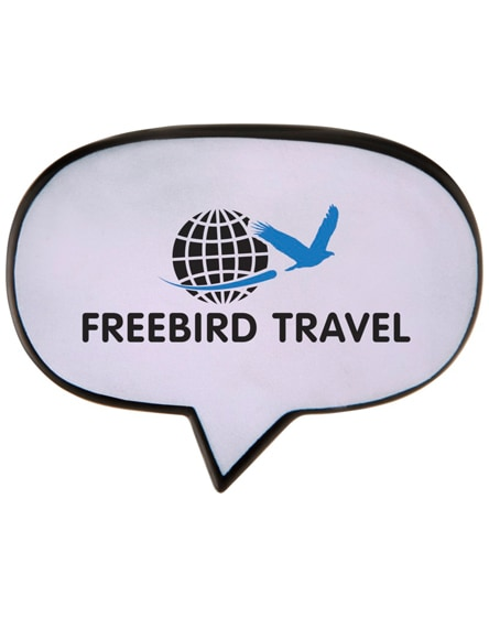 branded hey caption bubble stress reliever
