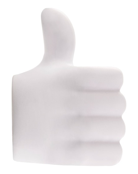 branded thumbs-up stress reliever