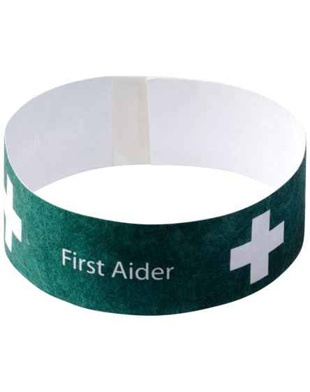 branded link budget wristband