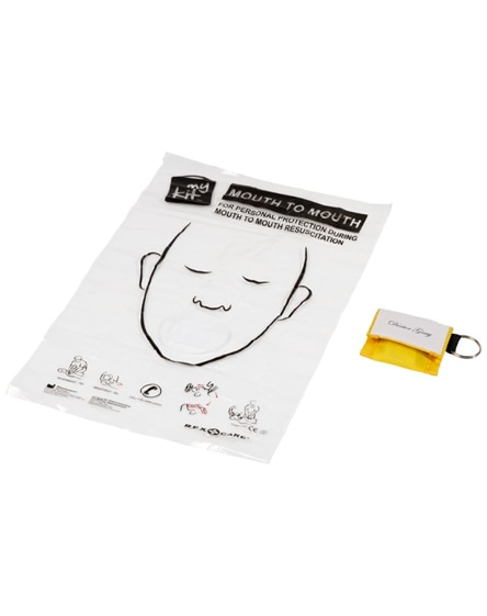 branded henrik mouth-to-mouth shield in polyester pouch
