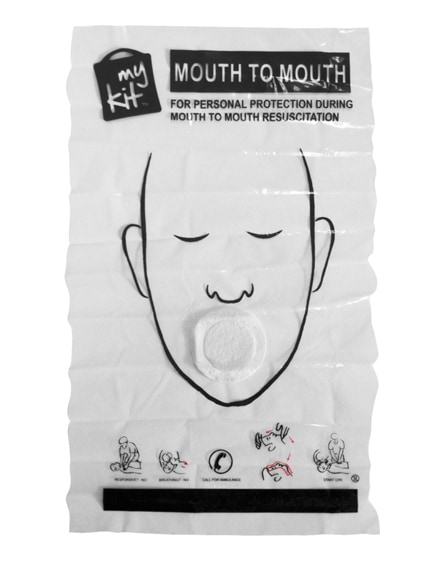 branded microkit mouth to mouth shield