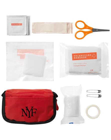 branded save-me 19-piece first aid kit