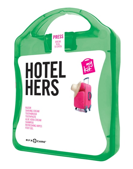branded mykit hotel hers travel set