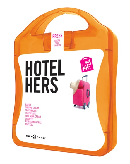 branded mykit hotel hers travel set