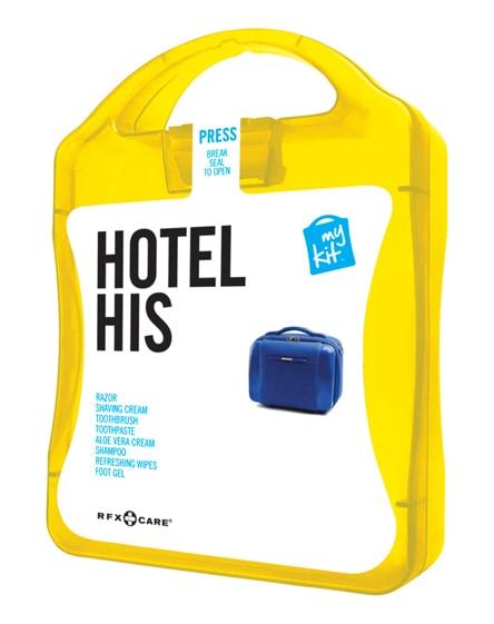 branded mykit hotel his travel set