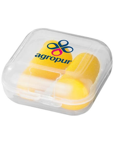 branded serenity earplugs with travel case