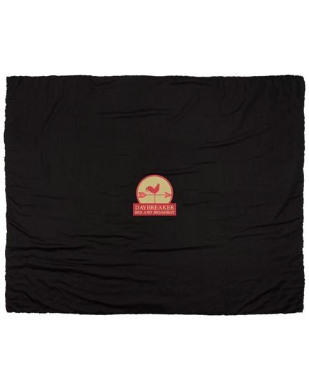 branded far sherpa plaid blanket
