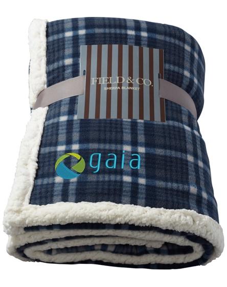 branded joan sherpa plaid blanket