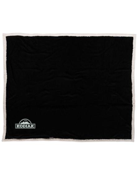 branded lauren sherpa fleece plaid blanket