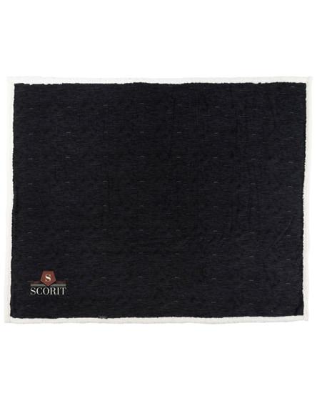 branded sam heathered fleece plaid blanket
