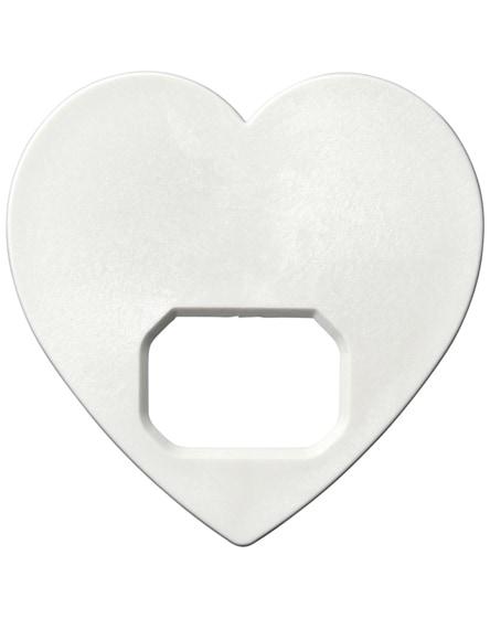 branded amour heart-shaped bottle opener