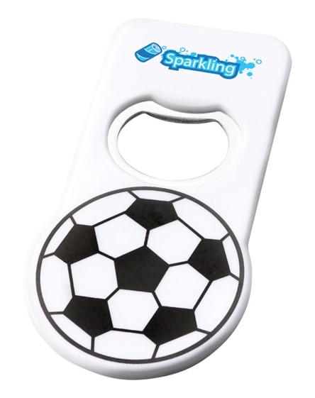 branded niki football bottle opener with magnet