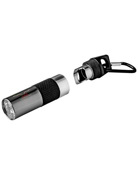 branded omega 6-led torch light and bottle opener