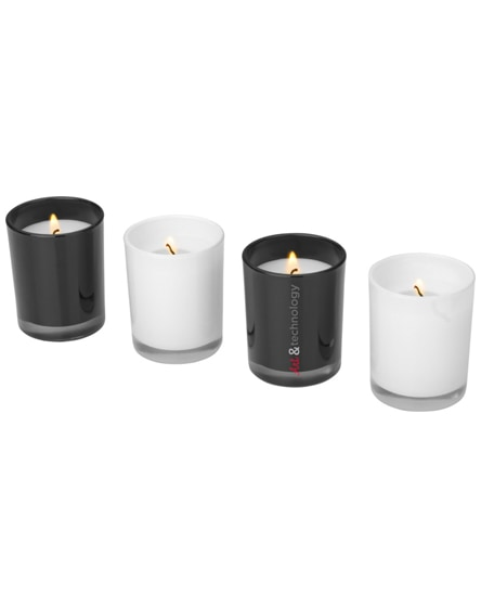 branded hills 4-piece scented candle set