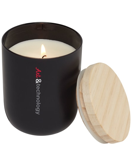 branded lani candle with wooden lid