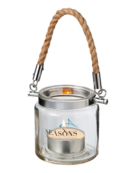branded solano glass lantern