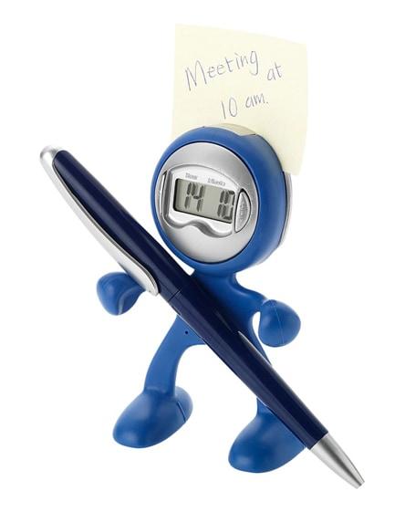 branded flexi alarm clock and smartphone holder
