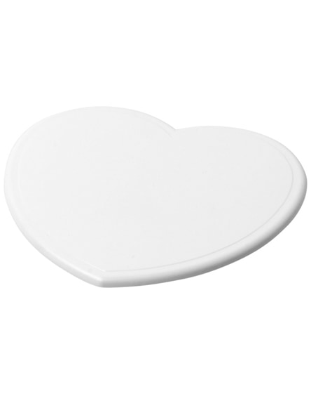branded cait heart-shaped coaster