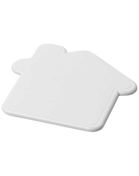 branded cait house-shaped coaster