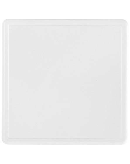 branded ellison square plastic coaster with paper insert