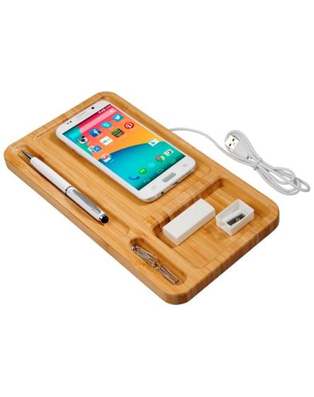 branded frame wireless charging desk organizer