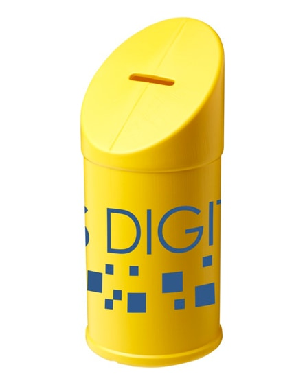 branded heba plastic charity collector container