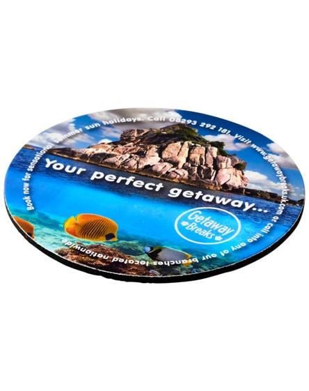 branded q-mat round coaster