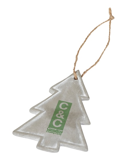 branded seasonal christmas tree ornament