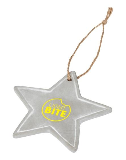 branded seasonal star ornament