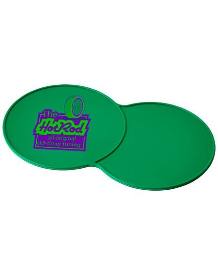 branded sidekick plastic coaster