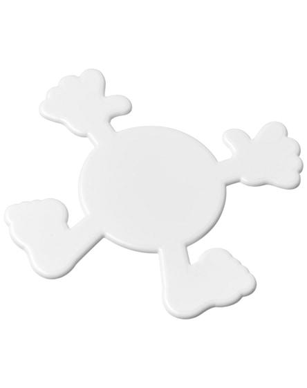 branded splatman plastic coaster