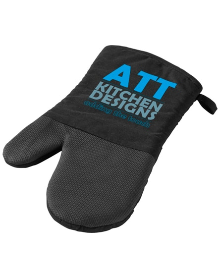 branded maya oven gloves with silicone grip
