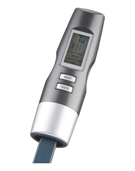 branded wells digital fork with thermometer