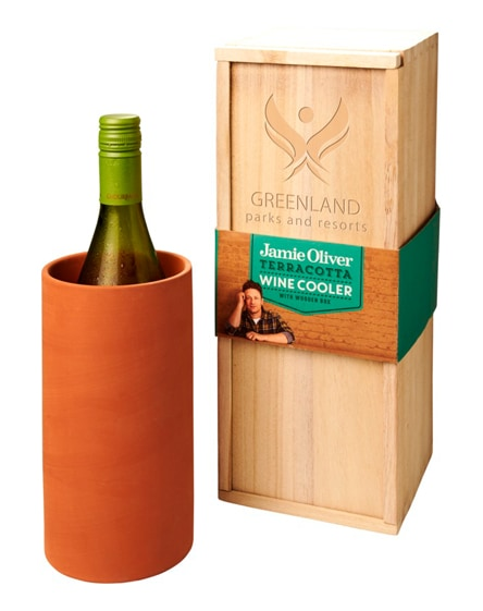 branded terracotta wine cooler