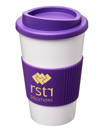 branded americano insulated tumbler with grip