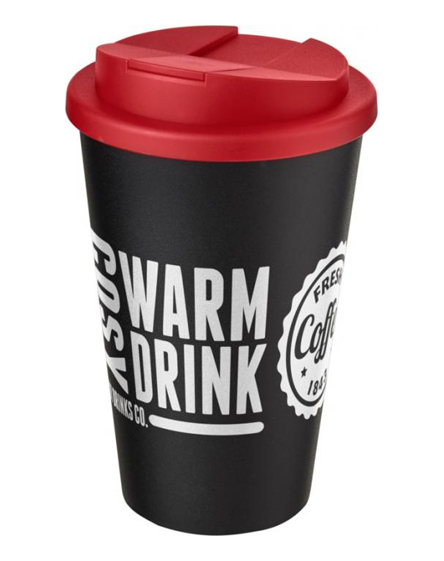 350ml spill proof branded reusable cups