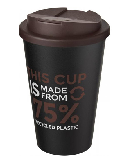 americano recycled cup with brown spill proof lid