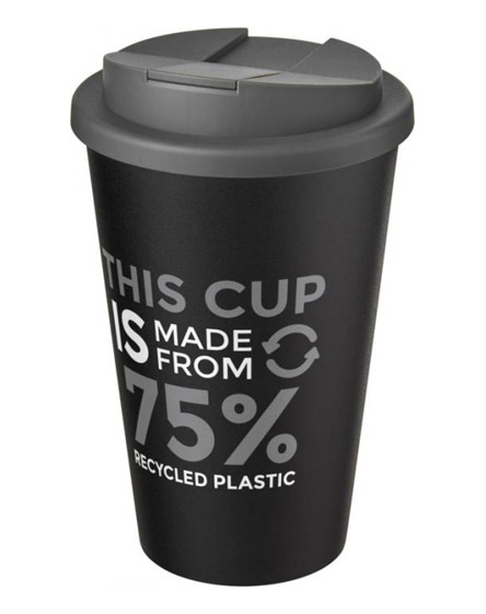 americano recycled cup with grey spill proof lid