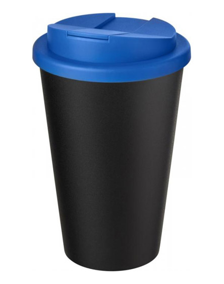 americano recycled cup with blue spill proof lid